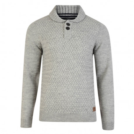 Threadbare Oslo Crew Collar Neck Wool Blend Jumper Silver Marl