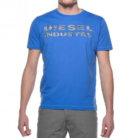 Diesel T-Cookies Crew Neck Print T-shirt Blue