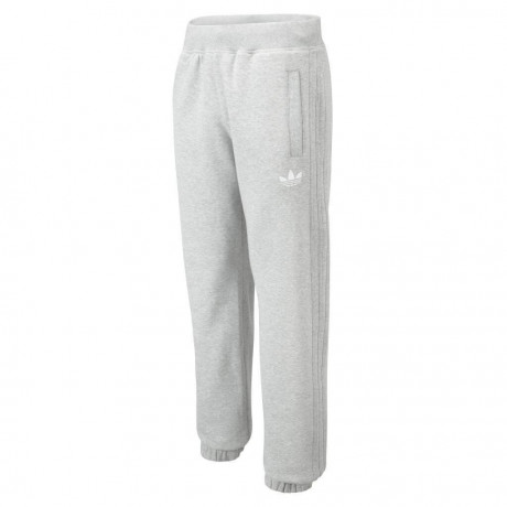 adidas Originals Trefoil Fleece Pants Grey White