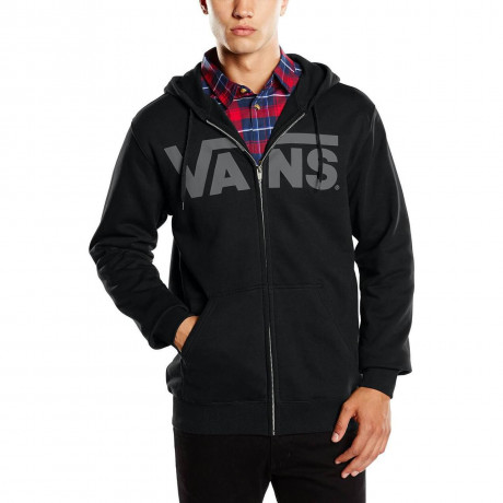 VANS Classic Logo Zip Up Hooded Sweatshirt Black Image