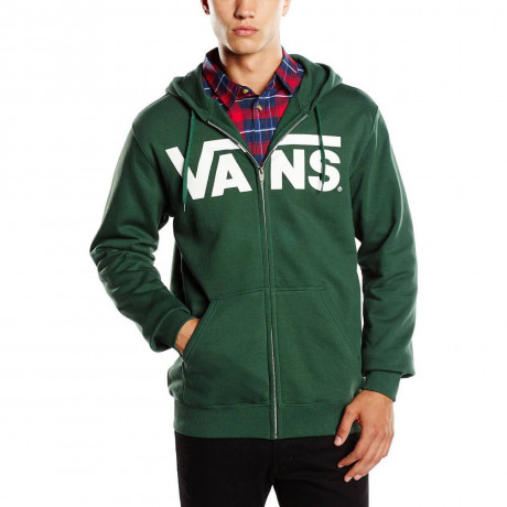 VANS Classic Logo Zip Up Hooded Sweatshirt Green Image
