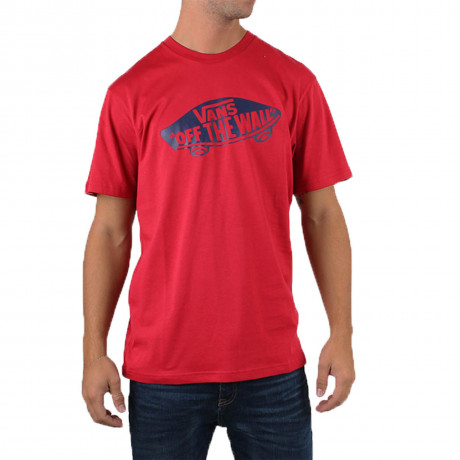 VANS Off The Wall Crew Neck Print T-shirt Cardinal Dress Blue