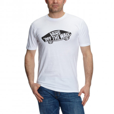 Vans Off The Wall Crew Neck Print T-shirt White Image