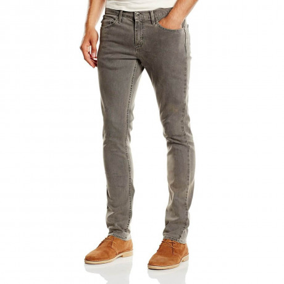 VANS V76 Skinny Denim Jeans Worn Grey