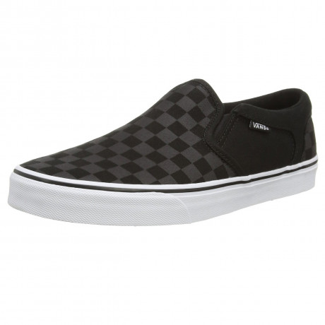 VANS Asher Check Trainers Black Grey