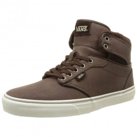 Vans Atwood High Top Leather Shoes Brown Image