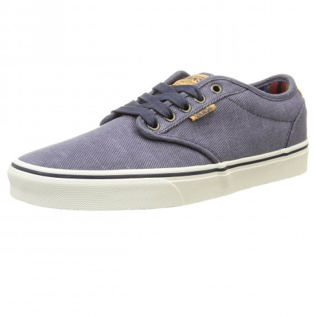 VANS Atwood Deluxe Washed Twill Trainers Navy Marshmallow