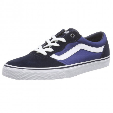 VANS Milton Suede Canvas Trainers Navy White