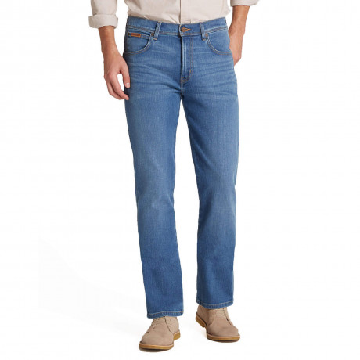 Wrangler Arizona Stretch Denim Jeans Spinner Blue