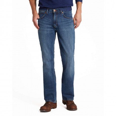 Wrangler Jacksville Bootcut Denim Jeans Burnt Blue