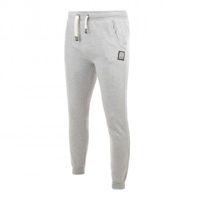 Smith & Jones Wetherby Cuffed Sweat Pants Light Grey Marl