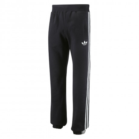 adidas Originals Trefoil Fleece Pants Bottoms Black Silver