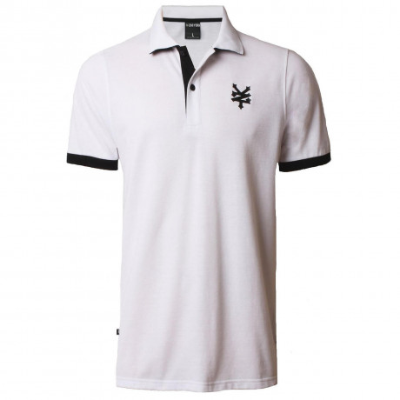 Zoo York Men's Tower Polo Shirt Optic White