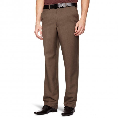 Farah Flexi Waist Trousers Taupe Marl Brown
