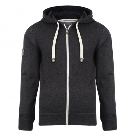 Smith & Jones Dursley Full Zip Hoodie Charcoal Grey Marl