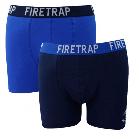 Firetrap Men's Boxer Shorts Navy & Blue - 2 Pack