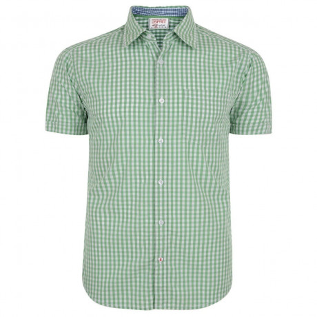 Esprit Slim Fit Short Sleeve Check Shirt Island Green
