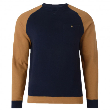 Dcode Crew Neck Two Tone Sweatshirt Acorn