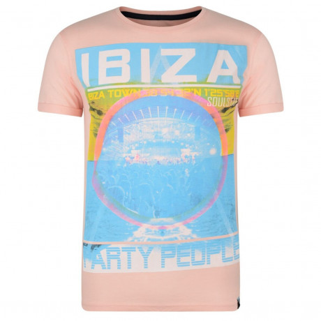 Soul Star Print T-shirt Ibiza Party People Pink Image