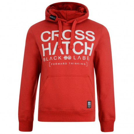 Crosshatch Corez Logo Hooded Sweatshirt Mars Red Image
