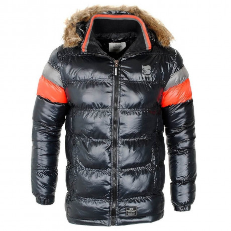 Crosshatch Faux Fur Snowhouse Parka Jacket Black Image