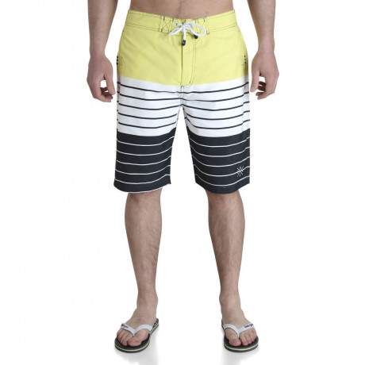 Smith & Jones Beach Swim Shorts & Flip Flop Set Stripe Yellow Image