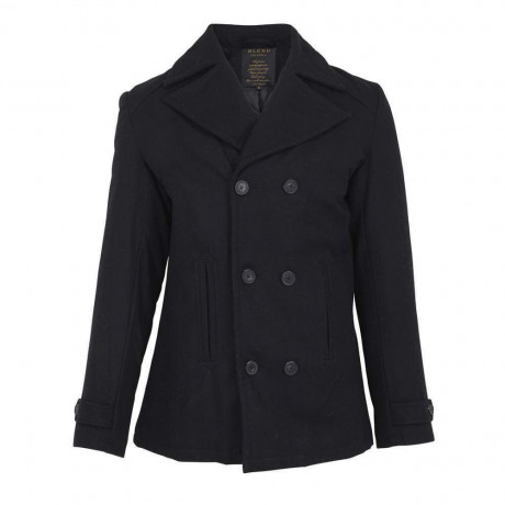 Blend Wool Over Coat Jacket Black Image