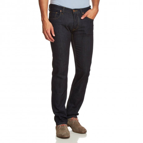 Lee Powell Slim Tapered Dark Rinse Denim Jeans Image