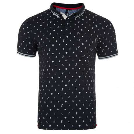 Soul Star Sailor Boat Polo Pique T-Shirt Navy Image