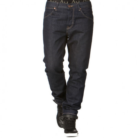 Wrangler Ben Tapered Denim Jeans Rinsewash Blue Image
