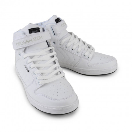 Crosshatch High Top Trainers Bronx White Image
