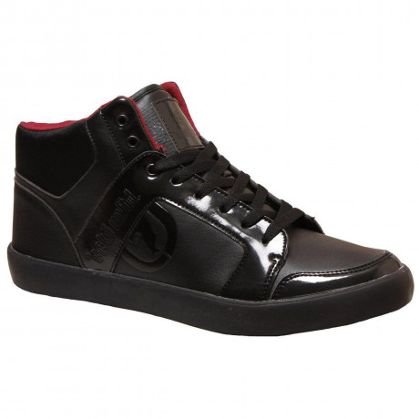 Ecko High Top Trainers Black Red Image