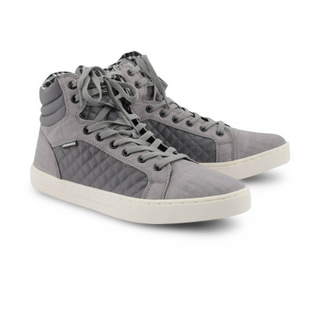 Crosshatch High Top Canvas Shoes Grey Image