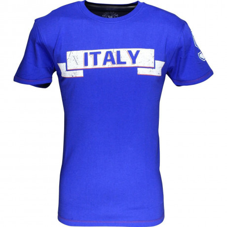 Soul Star Italy Banner T-shirt Blue Image