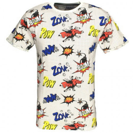 Soul Star Comic Print T-shirt Off White Image