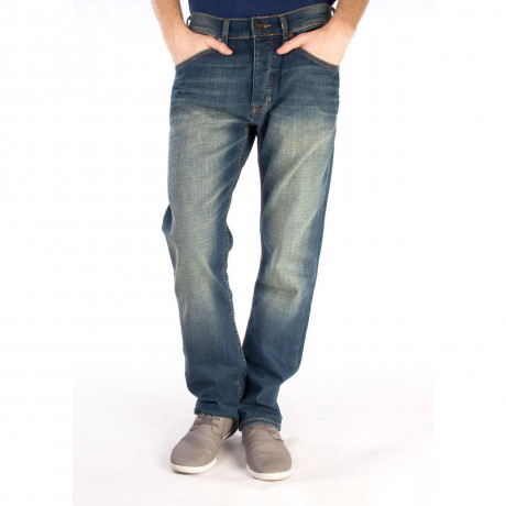 Wrangler Ben Tapered Denim Jeans Gimmie Blue Image