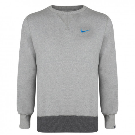 Nike Crew Neck Sweatshirt Jumper Light Grey Image