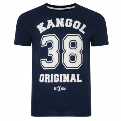Kangol Original 38 Crew Neck Logo T-shirt Navy Blue Image