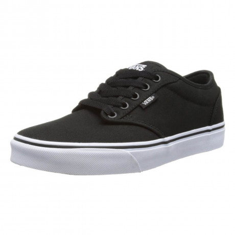 Vans Men's Atwood Canvas Trainers Black White | Jean Scene