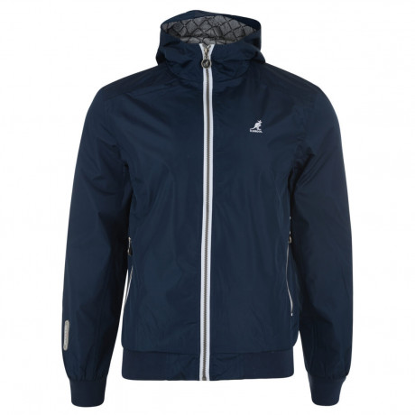 Kangol Hooded Track Jacket Navy Blue Image