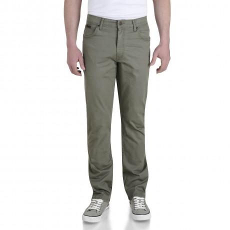 Wrangler Texas Stretch Jeans Light Dusty Olive Green Image