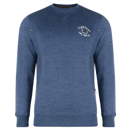 Firetrap Crew Neck Sweatshirt Solon Denim Blue Image