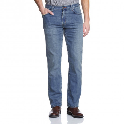 Wrangler Texas Stretch Jeans Tough Mid Blue Image