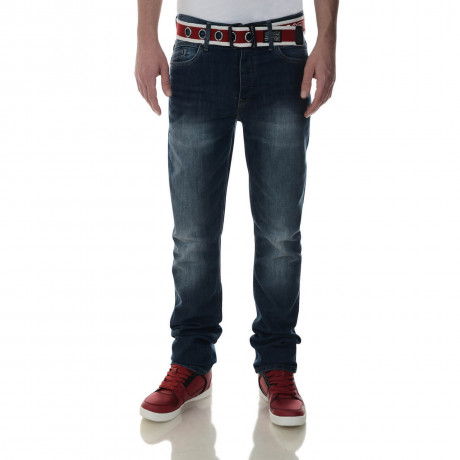 Crosshatch Straight Fit Oklahoma Jeans Faded Stone Wash Image