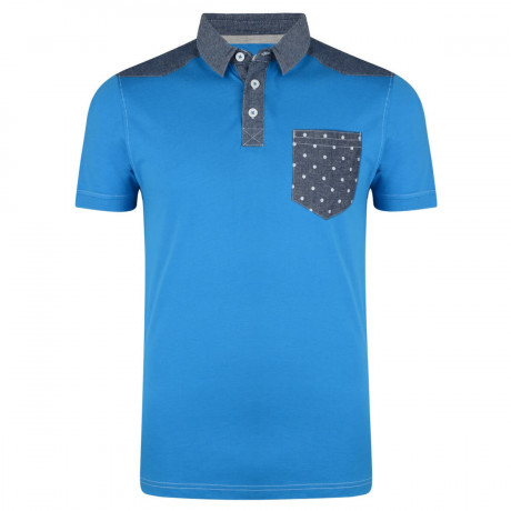 Conspiracy Polo Pique T-Shirt Blue Marine Image