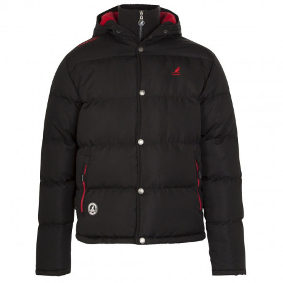 Kangol Hooded Padded Winter Jacket Black Image