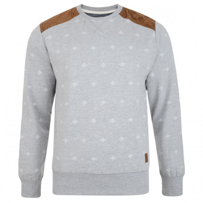 Smith & Jones Crew Sweatshirt Light Grey Marl Image