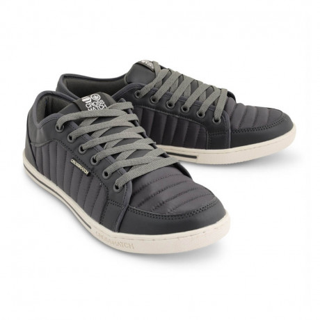 Crosshatch Quilted Trainers Steel Grey Shoes Image
