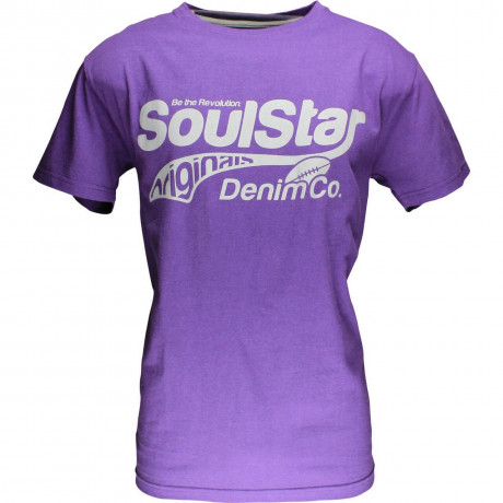 Soul Star Logo Print T-shirt Purple Image