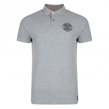 Crosshatch Kyston Polo Pique T-Shirt Grey Marl Image